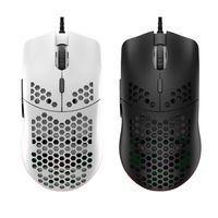 M6 oco favo de mel estilo mouse leve rgb wired gaming mice 12000 dpi b36a