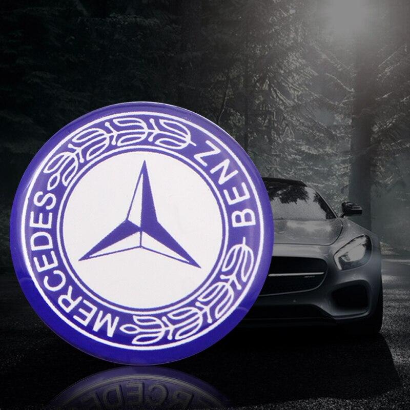 Mercedes Benz AMG 29mm Multimedia Control Button Knob Emblem Badge