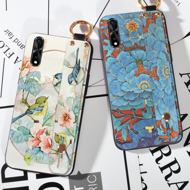 3D Emboss Floral Birds Case For Vivo IQOO Neo S5 Z5X V17 Pro S1 India Z5 IQOO Pro 5G Silicone Coque Shell Back Cover
