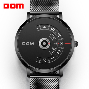 DOM Watch Men Top Brand Luxury Quartz watch Casual quartz-watch steel Mesh strap clock male Relog M-1303 - discount item  50% OFF Men's Watches