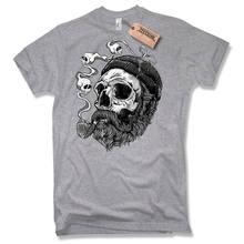 2019 camiseta de moda marinero barba pirata capitan calavera algodon negro s a xxl camiseta