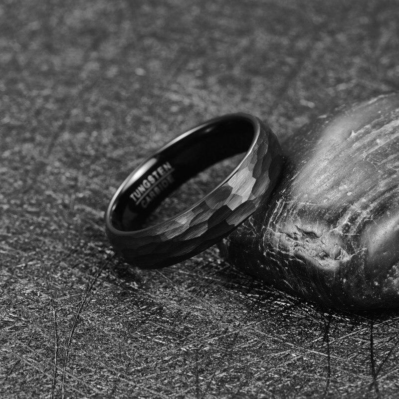 6mm preto tungstenio casamento banda para homem 01