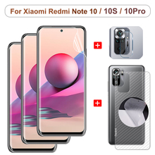 Full Cover Hydrogel Film For Xiaomi Redmi Note 10S Screen Protector Note10 Pro 5G Note10S Camera Soft Glass on Redmi Note 10S Front + Back Film