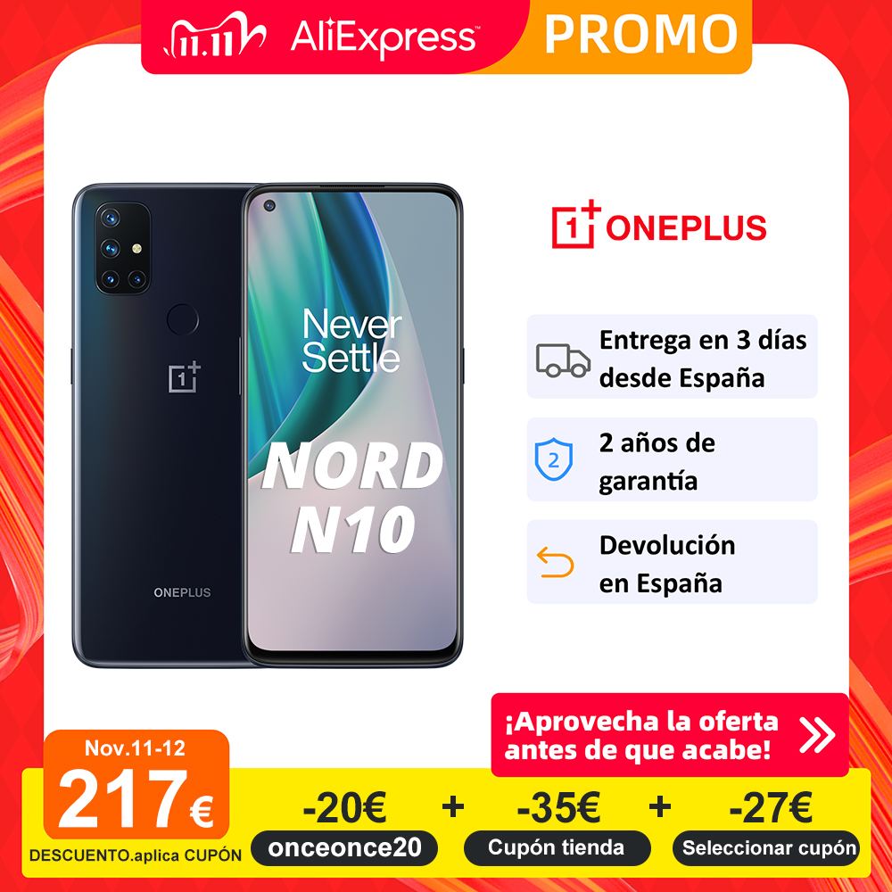 Presale Global Version OnePlus N10 Nord N10 5G Cellphone 6GB RAM 128GB ROM 6.49'' 90Hz Display Quad Camera Warp Charge 30T NFC|Cellphones| - AliExpress
