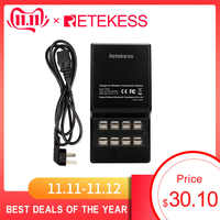 RETEKESS TT002 16 Port USB Ladegerät Basis 35W DC 5V 7A USB Lade Dock Eingebaute Ersatz Sicherung für wireless Tour Guide System