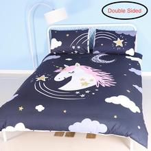 Double Sided Unicorn Bedding|Unicorn Bedding Full for Girls|Unicorn Bedroom Decor |Girls Twin Bedding Sets |Unicorn Comforter