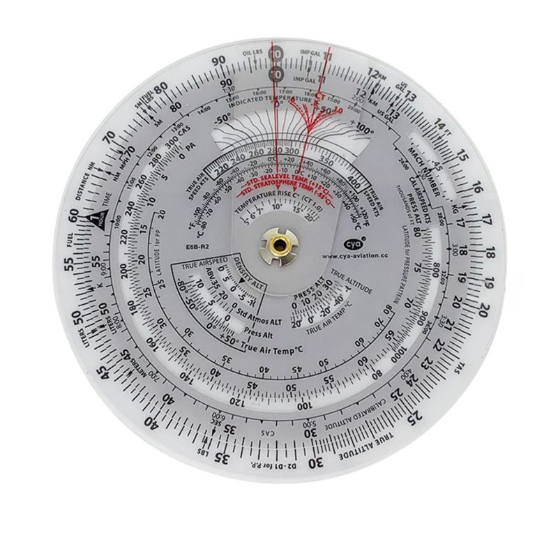 E6B Aviation Round Shape Circular Vector Flight Measuring Computer Calculator Training Plastic Ruler