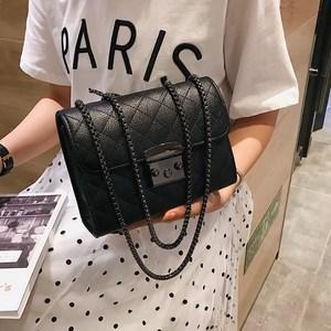 Image 1 - Small Messenger Chain Bag For Women 2020 Pu Leather Ladies Black Crossbody Bags Designer Luxury Woman Summer Shoulder Modis WE12