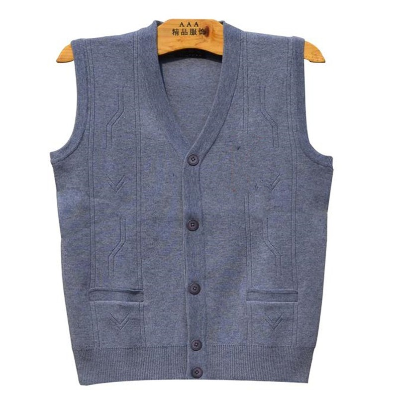 Mens Spring Vests Sweaters Knitted Waistcoat Cardigan Wool Sleeveless Fleece Tops Autumn Stretch Coats Chandail Male Jumpers