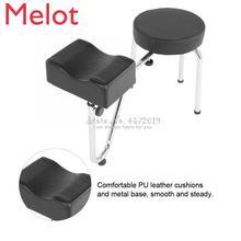 Adjustable PU Leather Tattoo Leg Arm Rest Pad Pedicure Foot Stool Chair Foot Cushion Tools