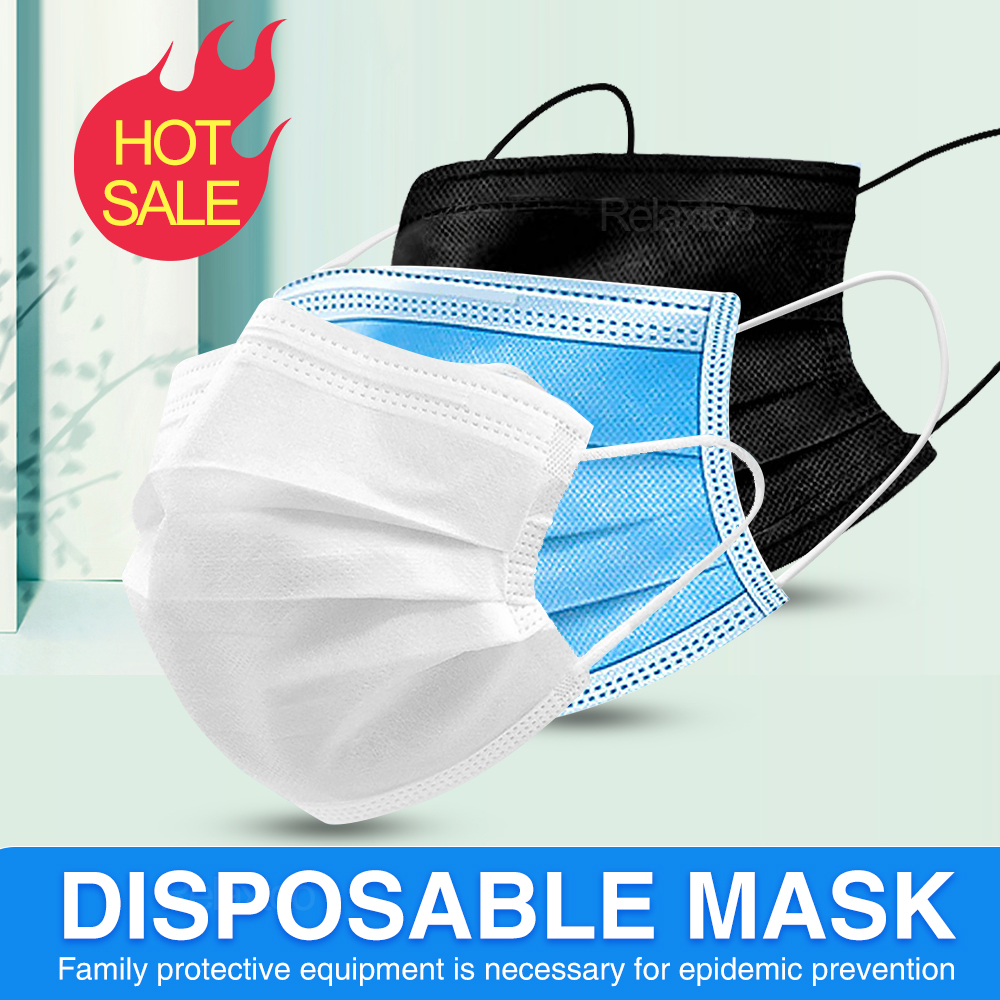Mouth Protective Mask Disposable Anti Virus Mask Protect 3 Layers Filter Dustproof Earloop Non Woven Mouth Masks Support Express