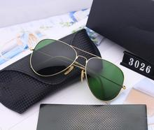 American Military Army Aviation Pilot Sunglasses Polarized Glass lens Men Brand Designer 3025/3206 Logo Original Box Top Quality