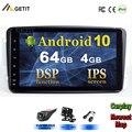 Автомобильный мультимедийный радиоприемник, DSP IPS 8 ''Android 10 для Mercedes/Benz/W209/W203/M/ML/W163/Viano/W639/Vito GPS стерео BT WIFI