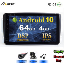 Dsp ips kit multimídia automotivo, 8 '', android 10, rádio, player multimídia, para mercedes/benz/w209/w203/m/ml/w163/viano/w639/vito gps stereo bt wifi