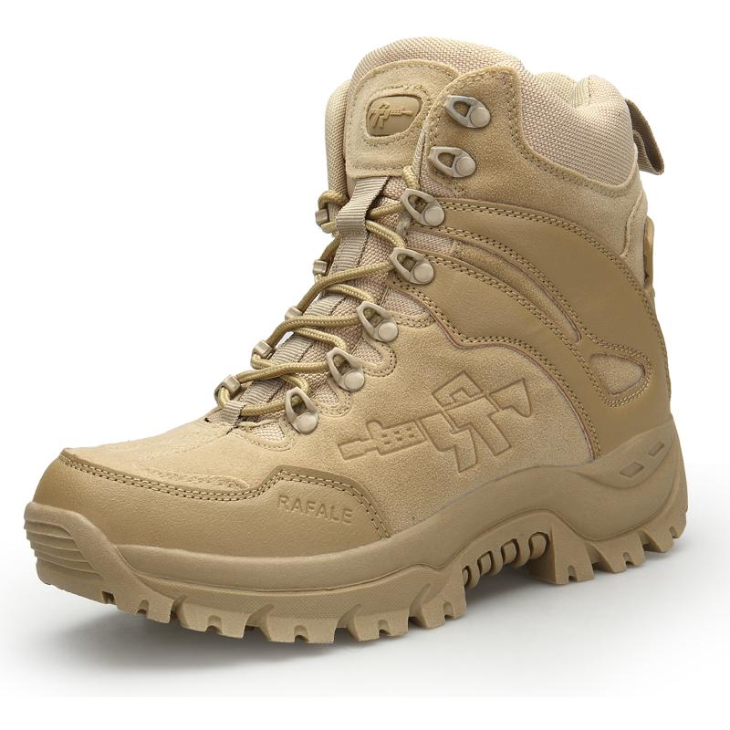Desert Tactical Mens Boots Wear-resisting Army Men Waterproof Outdoor Hiking Combat Ankle Shoes Size 39-46