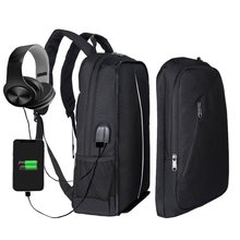 Sports outdoor backpack usb computer middle school student schoolbag