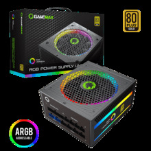 Power-Supply Light-Vairous Fully-Modular Gamemax Color-Mode 850W 80--Gold-Certified PC
