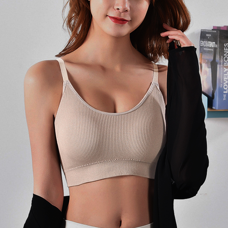 Women Crop Tops Seamless Underwear Female Tank Camis Sexy Lingerie Intimates Removable Padded Camisole Femme Sports 3