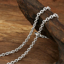 Necklace vintage chain 100% 925 sterling silver fashion jewelry necklace pendant for women and men S0568 56g solid 925 sterling silver long necklace men vintage indian style bull