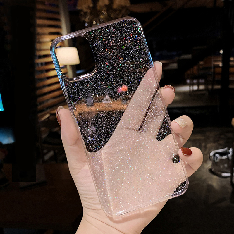 For Xiaomi Redmi Note 9 Pro Max 9S Note 7 8 Pro Note 5 6 K20 K30 Pro Transparent Glitter Sequins Case Redmi 8A 7A 6A 5A 4X Cover