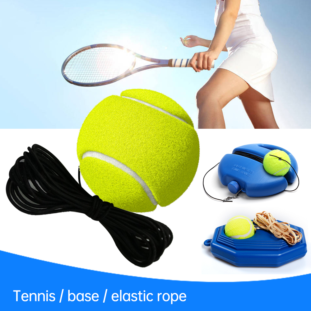 4Pieces Tennis Trainer Ball Self Study with Elastic Rope for Tennis Trainer
