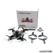Versão atualizada happymodel larva x 100mm crazybee f4 pro v3.0 2-3s 2.5 Polegada aio fpv racing drone bnf com câmera runcam nano2