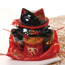 5.5 Inch Lucky Cat Ceramic Lucky Cat Home Decoration Porcelain Decoration Business Gift Lucky Cat Piggy Bank Feng Shui Crafts