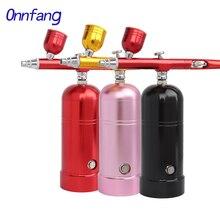 Беспроводной воздушный компрессор Onnfang, Портативный Аэрограф 0,3, 0,2 и 0,5 мм, пистолет-спрей для макияжа, боди-арта, модель торта, автомобильный...
