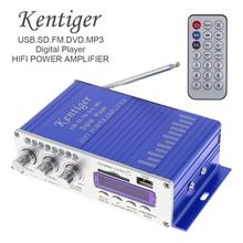 HY502 Digital Display Hi-Fi 2CH Car Stereo Power Amplifier Support USB FM AUX AMP for iPod USB MP3 F