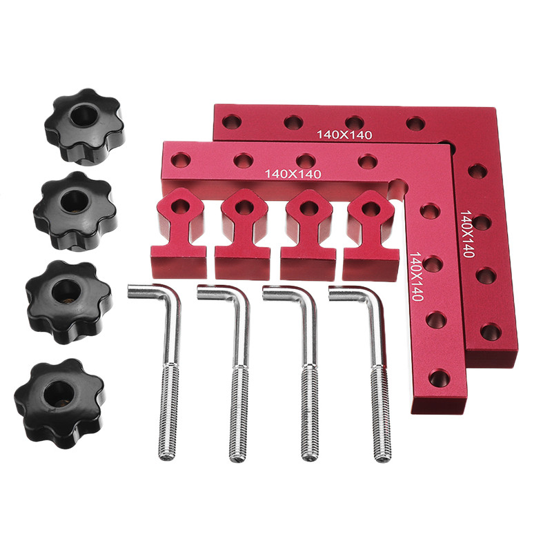 90 160mm Panel 6pcs 140 Set Auxiliary Fixing Positioning Clamping Tool Woodworking Degree L 120 Drillpro Clip Shaped Fixture