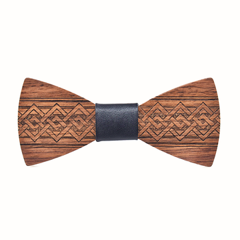 ZDJMEITRXDOOW Wooden Bowknot Bow Tie Men Male Wedding Party Chinese Craving Wood Butterfly Neck Bow Tie Gravata bow tie neck ruffle sweater
