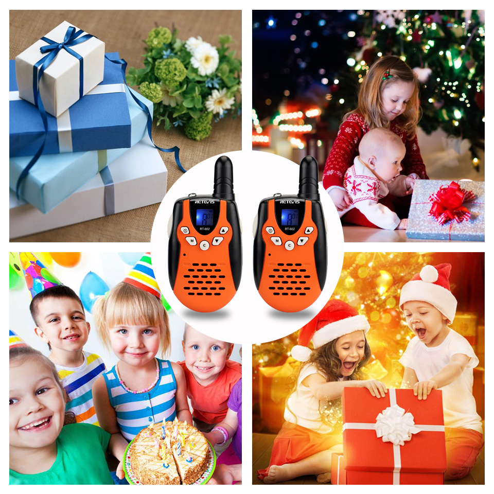 Retevis RT602 Rechargeable Walkie Talkie Kids 2pcs Children's radio 0.5W With Battery Birthday Christmas Gift Kids Toys For Game