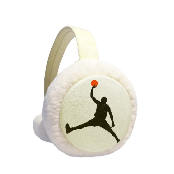 Slam Dunk Sports Basketball Running Winter Earmuffs Ear Warmers Faux Fur Foldable Plush Outdoor Gift