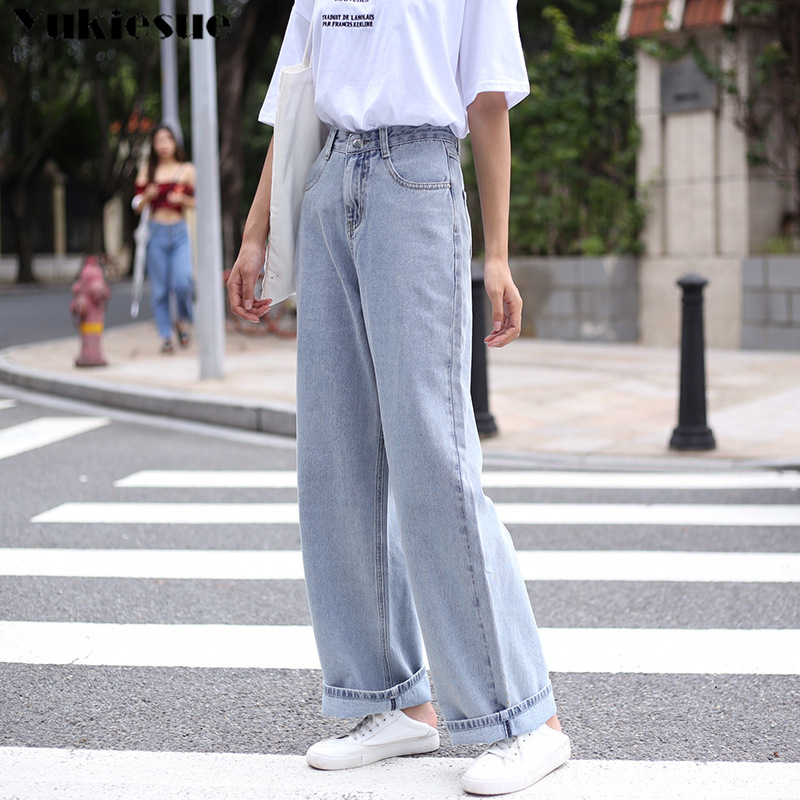 High Waist Jeans Pants Women 2019 Boyfriend Jeans For Women Harajuku Denim Harem Pants Ladies Wide Leg Jeans Woman Plus Size
