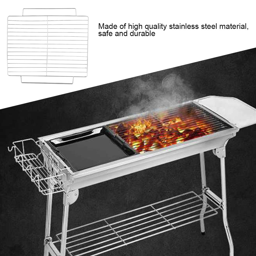 WE-WHLL Stainless Steel Barbecue Grill Wire Mesh Net Square BBQ Accessories Tool Outdoor Activities Camping Garden