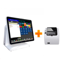 Commercial pos system 15 inch capacitive touch screen cash register tablet pos terminal with thermal printer