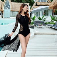 Sexy Lace Women's Swimsuit Free Diving Swimming Body Suit High Cut Swimwear Monokini One Piece Swimsuits Hollow Out Beach Wear