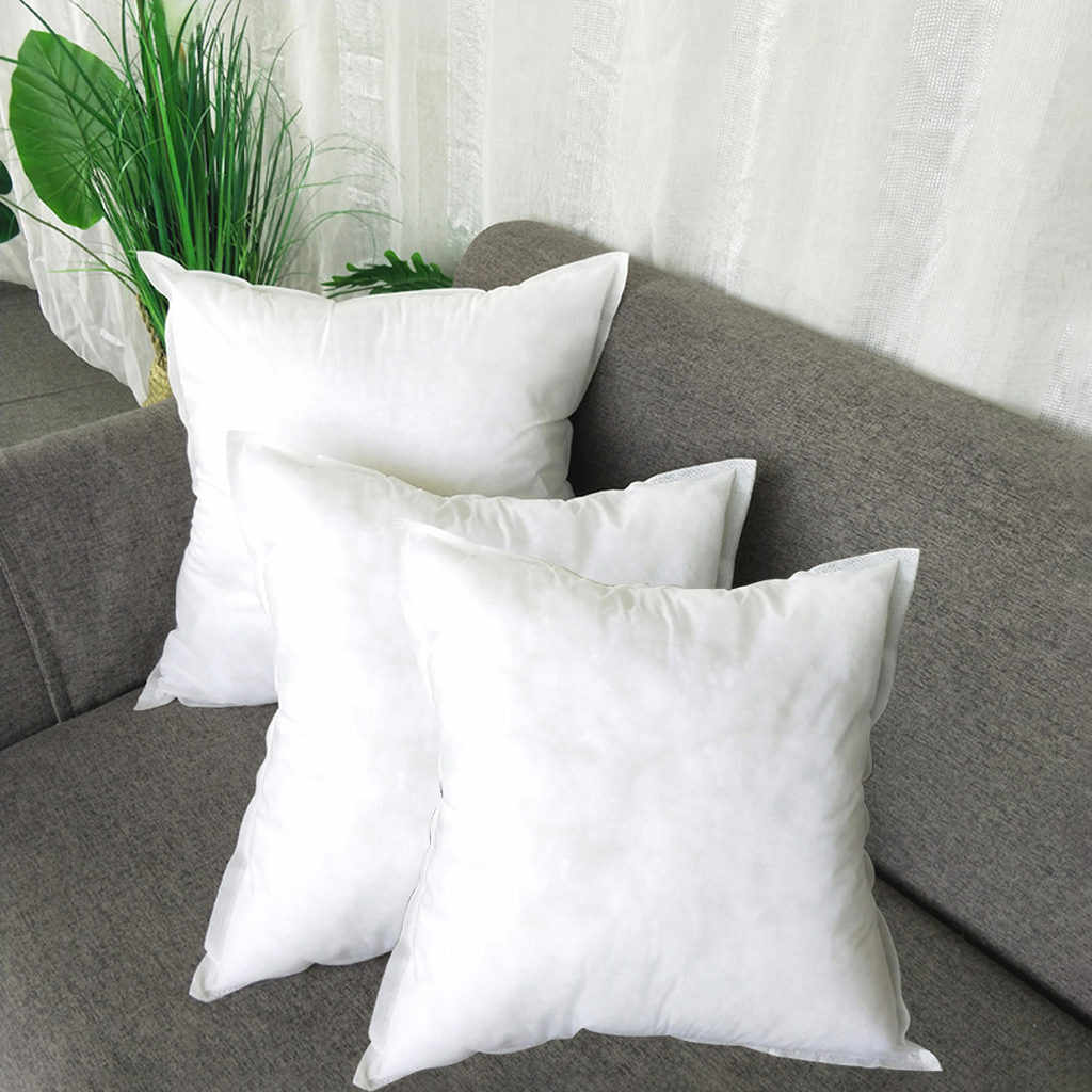 Bedding Square PP Cotton Cushion Core Pillow interior Home Decor White 45x45 CM For Car Sofa Chair cushion coussin decoratif new
