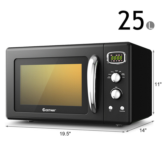 0.9 Cu.ft Microwave Oven Electric Bake Microwave Safe Kitchen Appliances with a Child Lock Function Intelligent Control 6