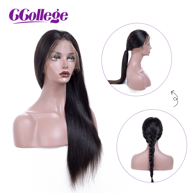 Wiązaniem brazylijski włosy 13x4 koronki przodu włosów ludzkich peruki z dziecięcymi włosami Pre oskubane prosto koronki przodu peruk nie Remy włosy w Peruki z ludzkich włosów na siatce od Przedłużanie włosów i peruki na AliExpress - 11.11_Double 11Singles' Day 1