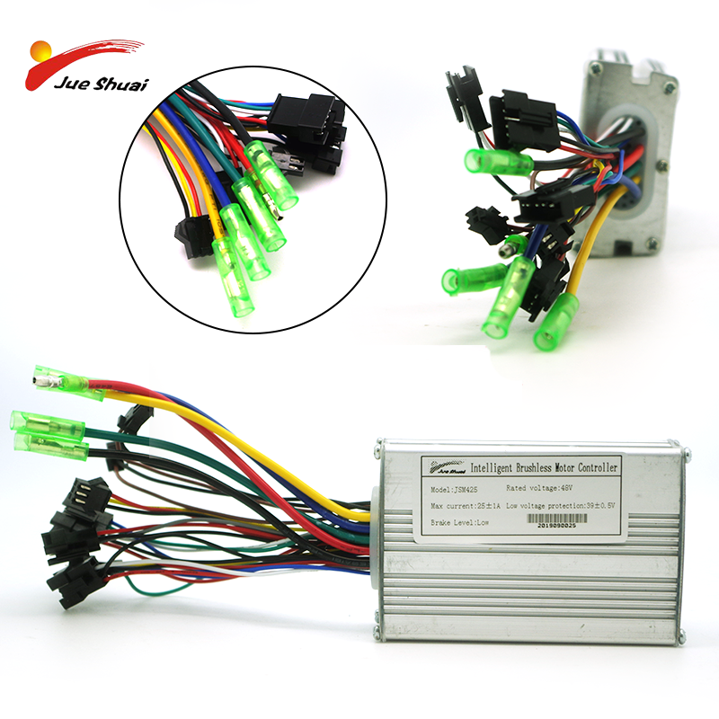Electric Bike Controller LCD LED DC48V/36V 14A/20A 250W/350W/500W Motor Brushless Controller Ebike Scooter Tricycle Accessories