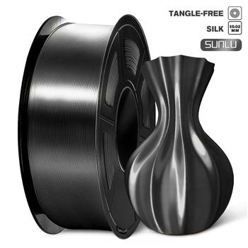 PLA 1kg 1.75mm Silk Texture Filament Diameter Tolerance 0.02mm High Toughness FDM 3D Printer Black Artwork Printing Mate
