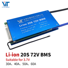 20S BMS 72V 3.7V סוללת ליתיום הגנת לוח השוואת טמפרטורה זרם יתר הגנת PCB 30A 40A 50A 60A