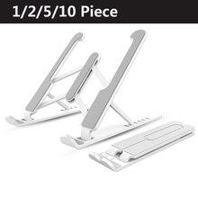 1/2/5/10PCs Einstellbare Stand Nicht slip Faltbare Laptop Halter Notebook Stehen Für Notebook macbook Pro Air iPad Pro DELL HP