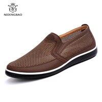 Zapatos informales de verano para hombre, transpirables Zapatillas de malla, mocasines sin cordones, calzado para caminar al aire libre, 2021