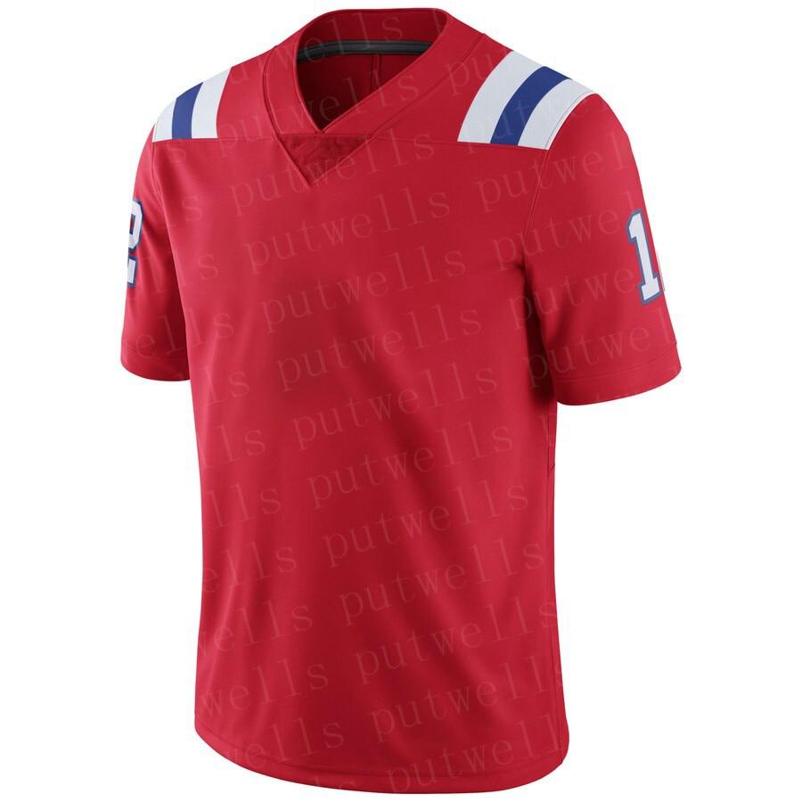 Mens New 2019 American Football New England Jersey Tom Brady Julian Edelman Rob Gronkowski Randy Moss N'Keal Harry Jerseys