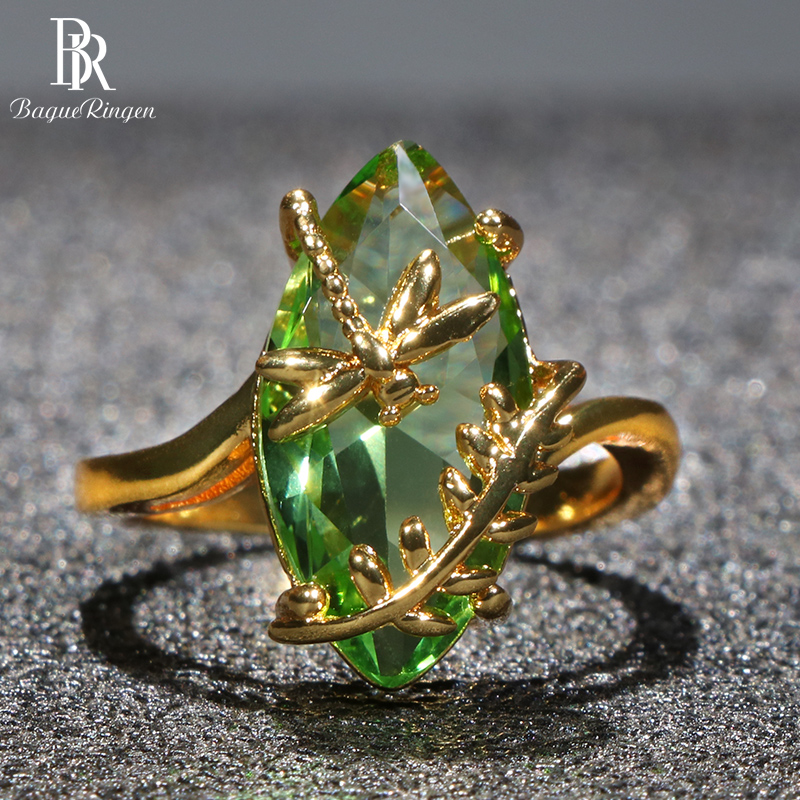 Bague Ringen 100% Кольцо из стерлингового серебра S925 пробы с Овальным Изумрудом драгоценный камень для женщин обручальное ювелирное изделие для свадьбы оптовая продажа подарок