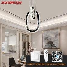 Современные хрустальные люстры кольца для кухни гостиной спальни