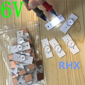 Image 1 - 30Pcs 6V SMD Lampe Perlen mit Optische Objektiv Fliter für 32 65 zoll LED TV Reparatur (6V mit Kabel) 100% NEUE