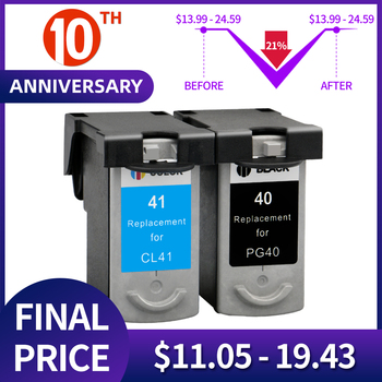 1BK PG-40 CL-41 Compatible Ink Cartridge PG40 For Canon Pixma MP140 MP150 MP160 MP180 MP190 MP210 MP220 MP450 MP470 printer